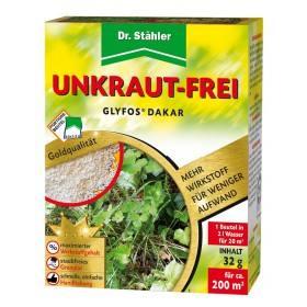 Herbizid Glyfos® Dakar von Dr. Stähler, 10 x 3,2 g - 680 g/kg Glyphosat gegen Wildkräuter