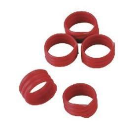 Hühnerringe in rot,  20 Stück - Extra starke Spiralringe 16mm 3x gedreht für Hühner Geflügel Pute