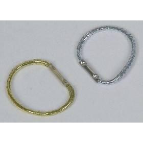 Mähnenbänder, 100 Stück in Spenderbox, Silber