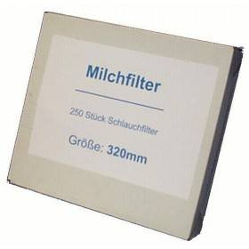 Milchfilter neutral, genäht, 455 mm - 250 Stück / Pack