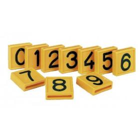 Nummernblock gelb zum Einschlaufen