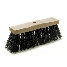 Profi-Straßenbesen 32 cm, lange kräftige schwarze Elastonborsten