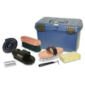 Putzbox 7-teilig befüllt, mit herausnehmbarem Einsatz