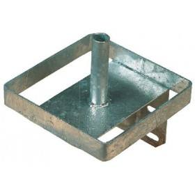 Salzlecksteinhalter aus Metall (verzinkt)
