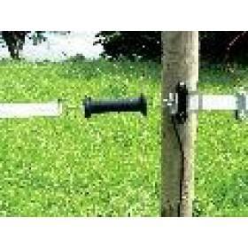 Bandtorgriff-Isolator, 4 Isolatoren und 4 Anschlussplatten mit Niroplatten