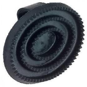 Gummistriegel oval aus Hartgummi mit Handschlaufe