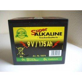 Weidezaun Batterie 9 Volt 175 AH, Alkaline - ohne Cadmium und Quecksilber