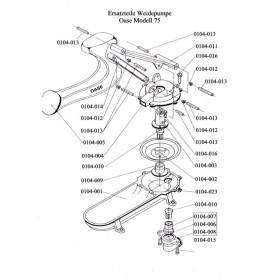 Ventilsitz aus Messing  für Weidepumpe Oase Modell 75