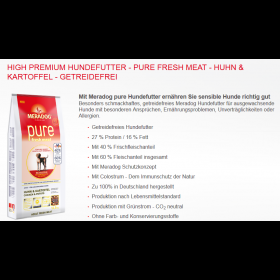 High Premium - Pure FRESH MEAT - Huhn & Kartoffel  GETREIDEFREI