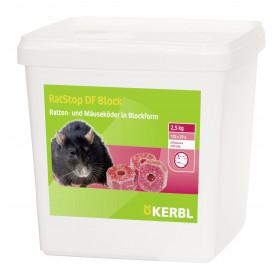 Rattengift - RatStop DF 50 Block - 2,5 kg Wirkstoff:Difenacoum Ratten Schadnager