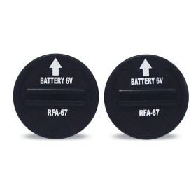 2 Ersatzbatterien 6V, RFA-67 passend zu 83003, 83008, 83010
