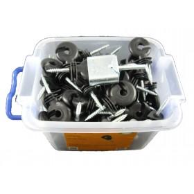 100 Stück Ringisolator im praktischen Eimer mit Einschrauber von Göbel