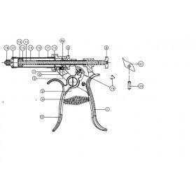 Griff Feder für HSW Roux Revolverspritze