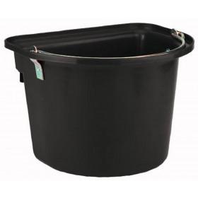 Schwarzer Stalleimer mit Metalltragegriff 12 Liter