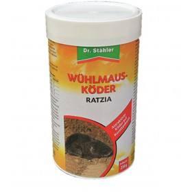 Wühlmausköder Ratzia, 250 g - Wühlmäuse, Köder Gift - Zinkphosphid