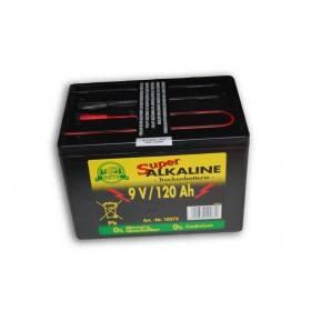 Weidezaun Batterie 9 Volt 120 AH, Alkaline - Trockenbatterie ohne Quecksilber Cadmium