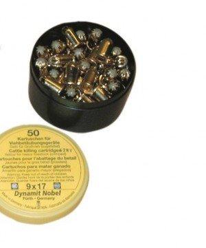 Kartuschen (Munition) für Wühlmaus Selbstschussgerät - 50 Stück / Pack