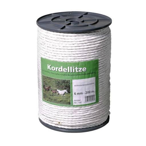 Cord wire 200 m, 6 mm, white, head 6 x 0.20 Niro - Eider