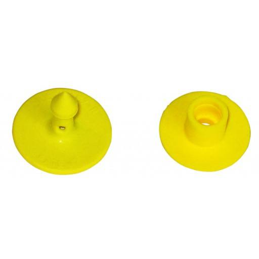Eartag MULTIFLEX, R for pigs, yellow, blank, Spike part (25 pieces per pack)