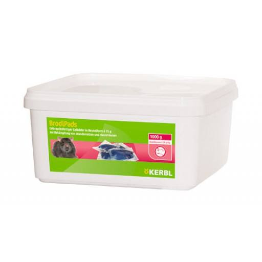 BrodiPads Gelpad 1000 g of paste bait 15gr, Brodifacoum