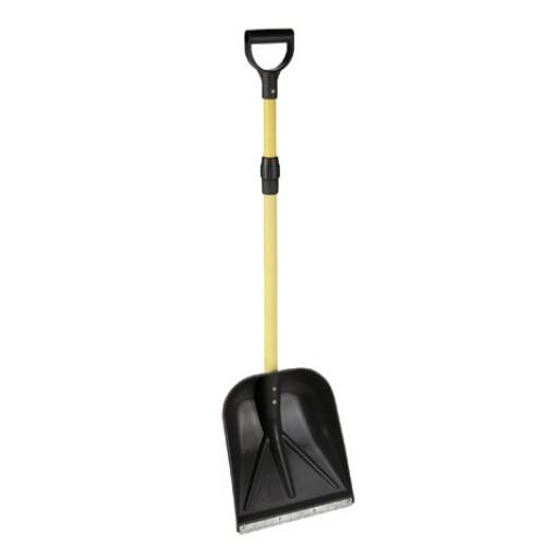 Multi purpose shovel with telescopic handle