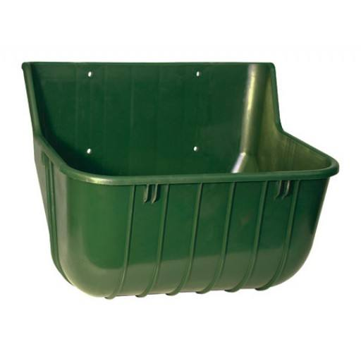 Horse feeding trough without protection edge - 15 litres