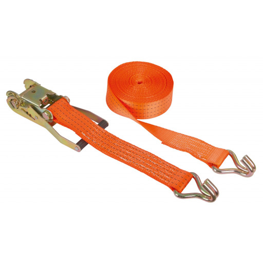 Lashing strap 2-piece, 1200 x 5 cm orange, 4000 kg