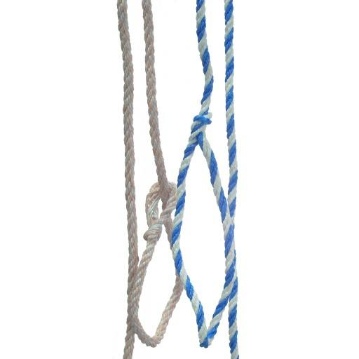 Poly rope 1.60 m, small loop, white