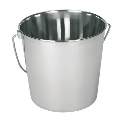 Stainless steel bucket - 8.5 litres
