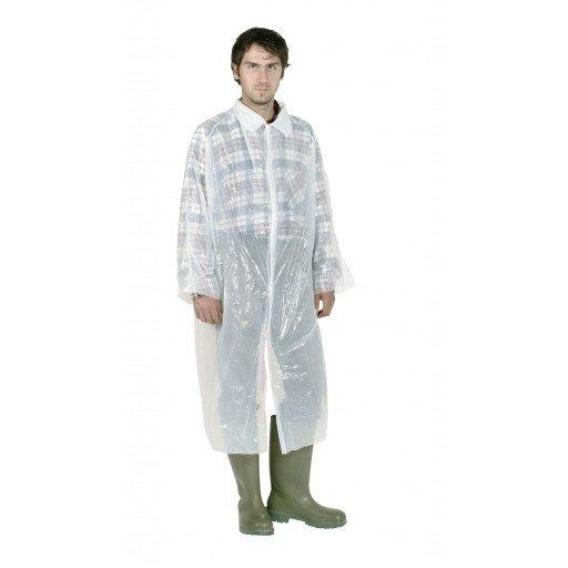 Disposable coat white