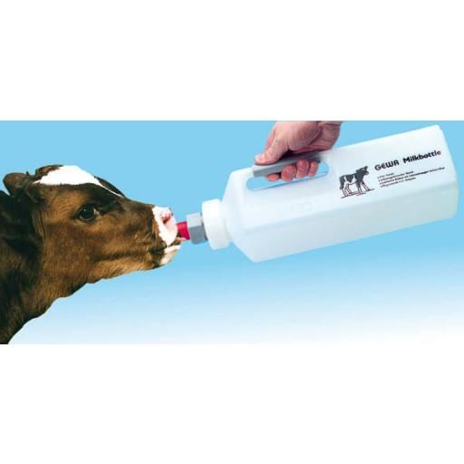 Calf milk bottle 3 ltr. with grab bar