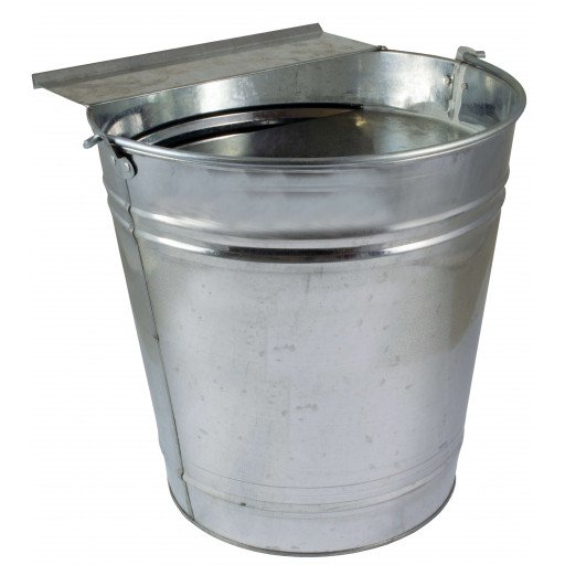 Galvanized poultry drinking bucket