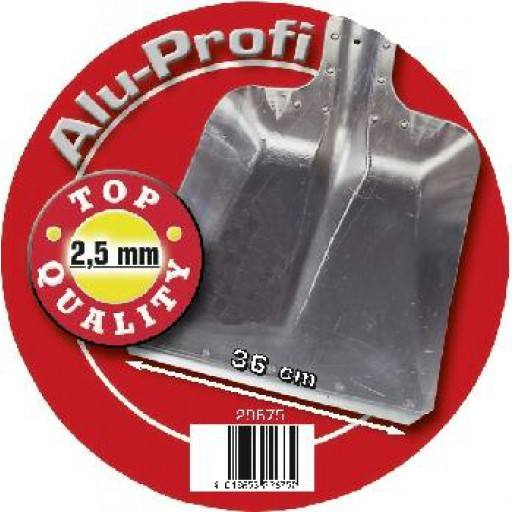 Alu shovel professional size 9 2, 5mm strong, 36 cm width, with steel edge