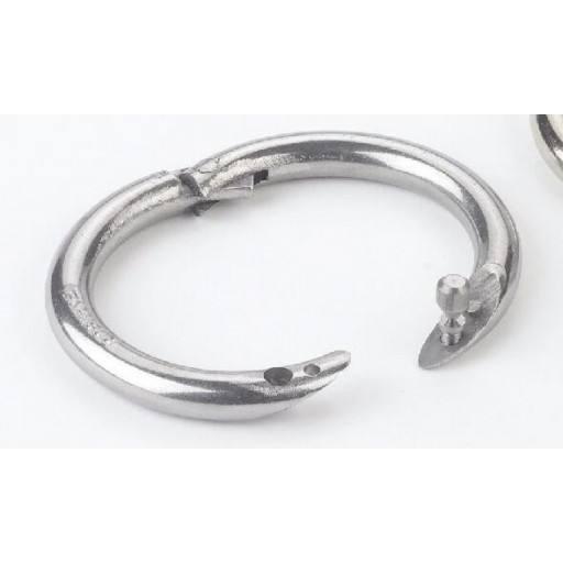 Bull nose ring screw
