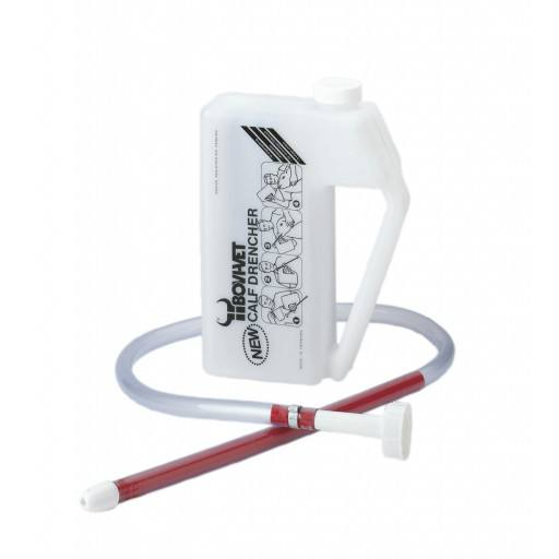 Calf drencher with flexible probe