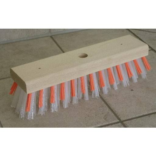 Replacement brush red and white bristles for water broom