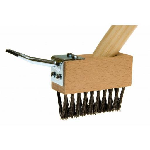Crevice brush with scraper device handle 140 cm