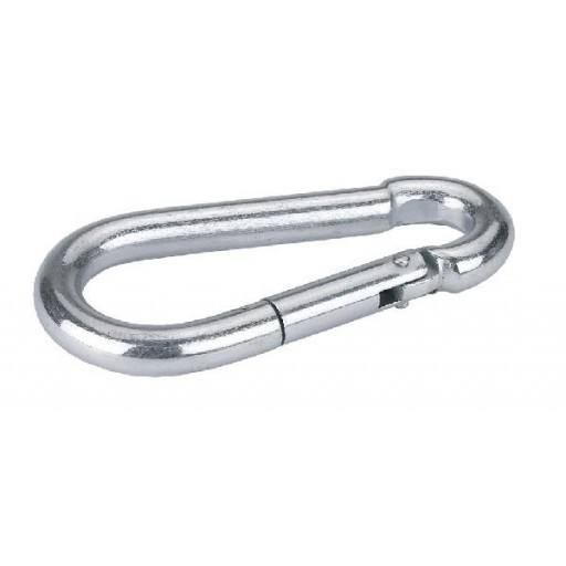 Zinc-plated snap hook 70 mm / 7 mm