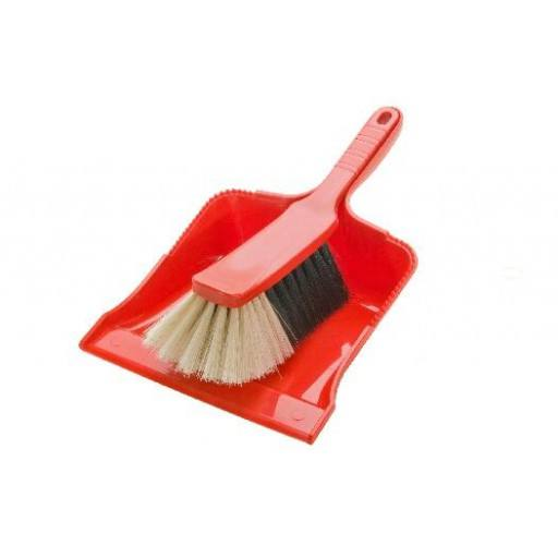 Brush and Pan 2 piece plastic, hand brush + scoop