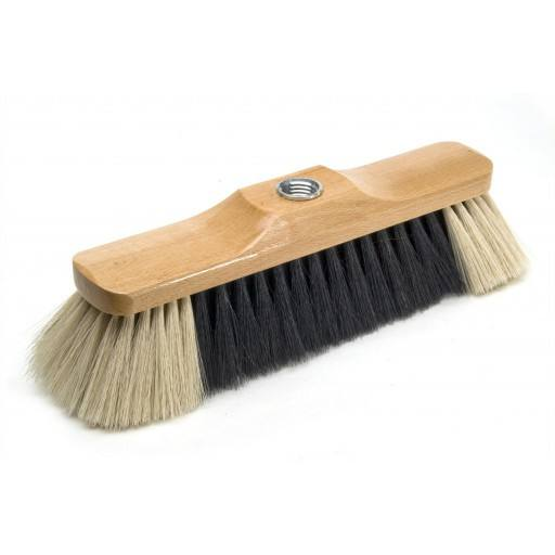 Kitchen broom 28 cm lacquered hair blend, with thread