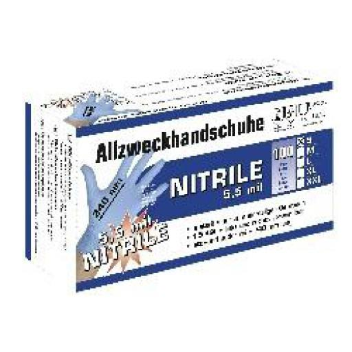Nitriles all purpose gloves 5.5 mil, 100 pieces, size M