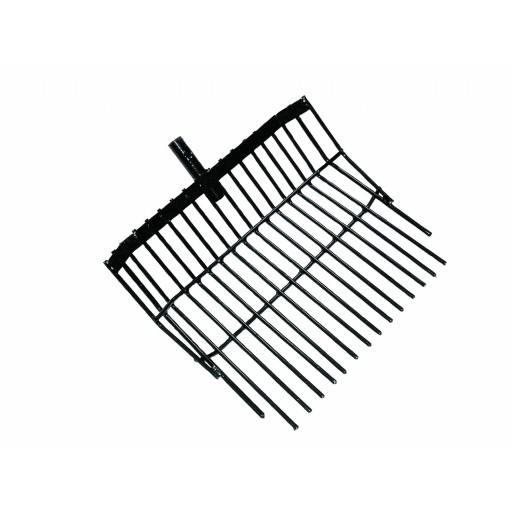 Horse manure fork metal, 20 tines