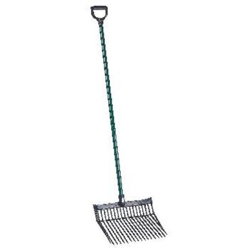 Horse manure fork PVC with metal handle