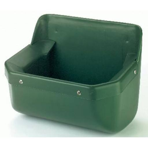 Horse feeding trough with protective edge - 15 litres