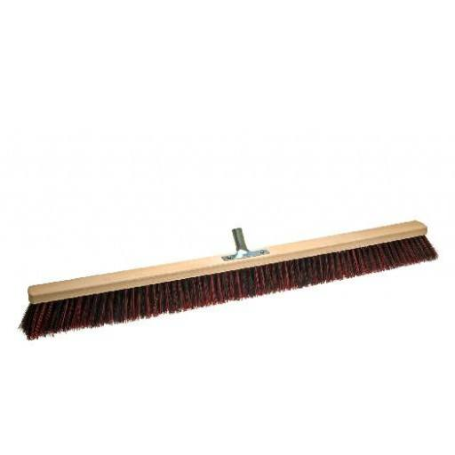 Room broom 100 cm harangue/Elaston mix with metal stick holder