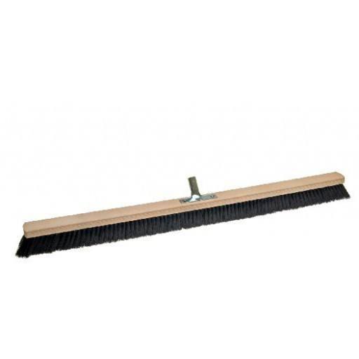 Room broom 100 cm, hair blend, with metal stick holder
