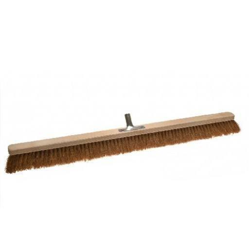 Room broom coconut 100 cm with metal stick holder