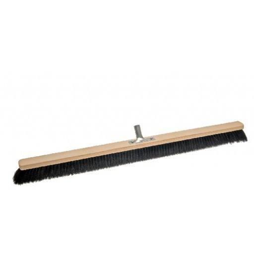 Room broom 100 cm, horsehair, with metal stick holder