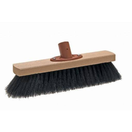 Room broom 28 cm, horsehair, with quick set holder