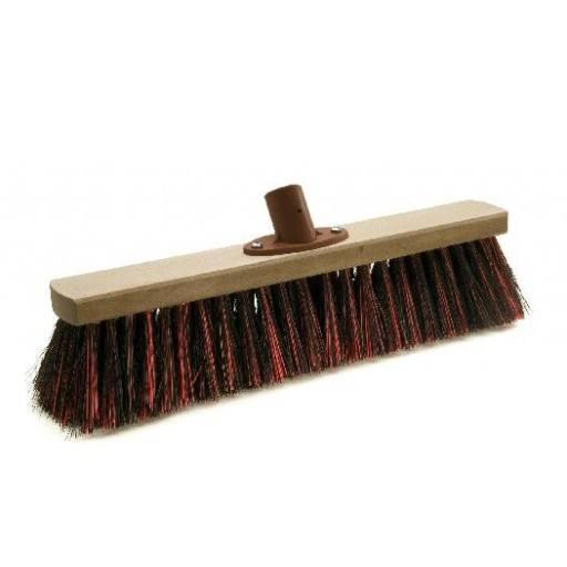 Room broom 40 cm harangue/Elaston mix with quick set holder